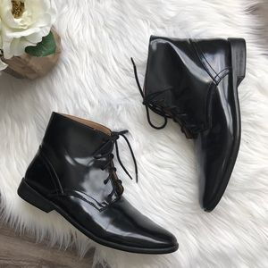 Zara Basic Collection | Lace Up Ankle Combat Boot